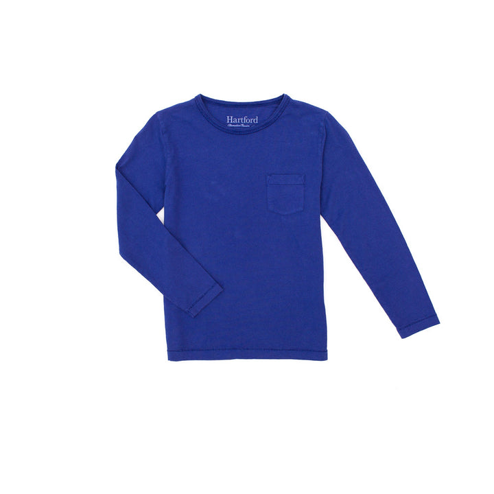 Long Sleeve Pocket Crew Indigo