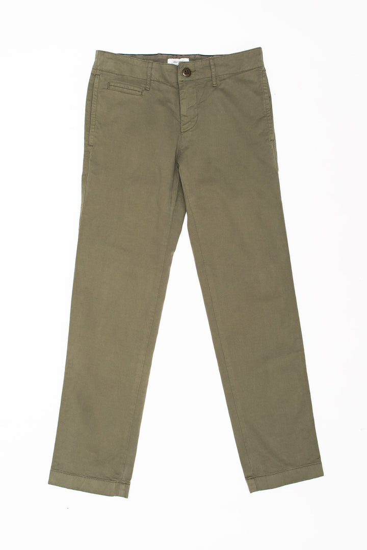 Polished Cotton Chino Khaki Kid