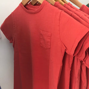 Slub Cotton Pocket Crew TShirt