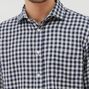 hartford Gingham Double Faced Regular Shirt