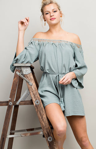 Let me Per-Sage You Romper - The Bustling Boutique