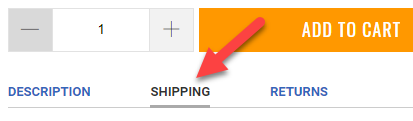 Shipping Tab Example