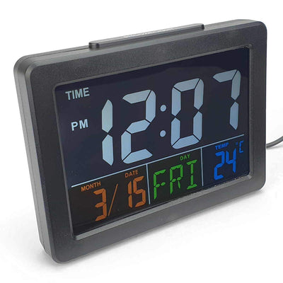 Checkmate Addyson Rainbow LED Alarm Clock Black 14cm VGW 2000B 1