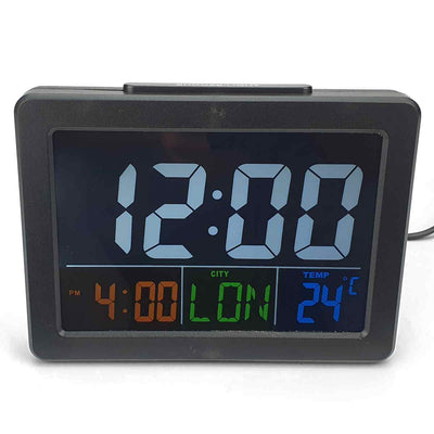 Checkmate Addyson Rainbow LED Alarm Clock Black 14cm VGW 2000B 3