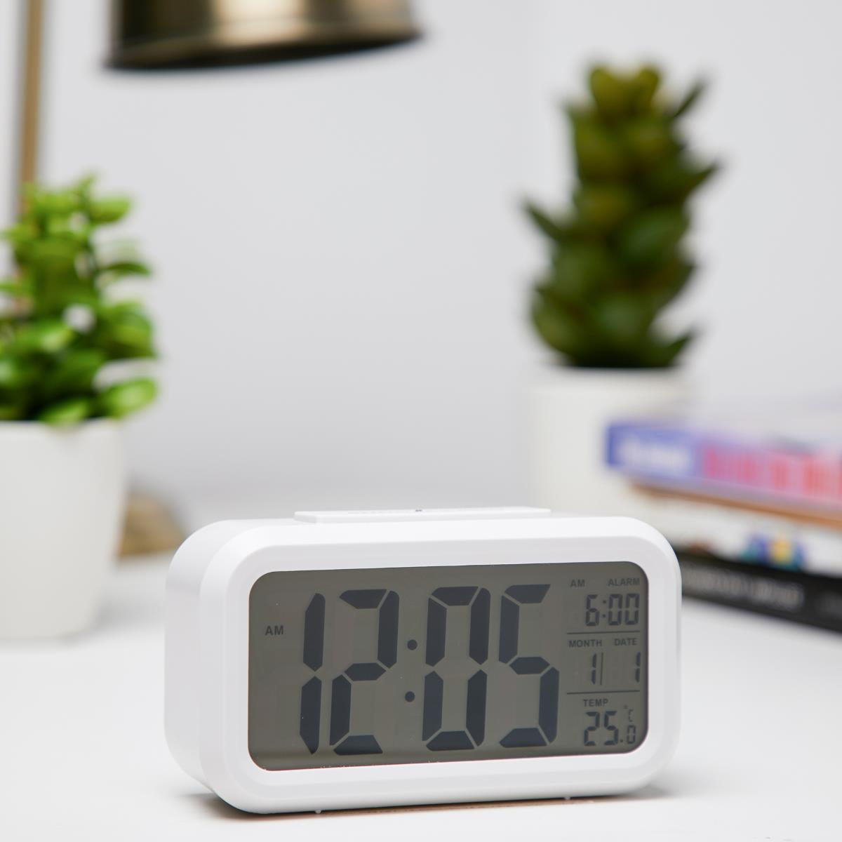 Checkmate Chapman Multifunction Digital Alarm Clock White 14cm VGW-1065White Lifestyle1