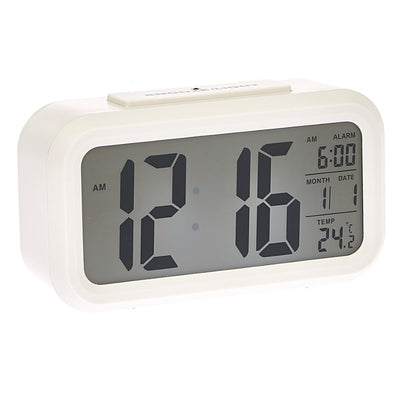 Checkmate Chapman Multifunction Digital Alarm Clock White 14cm VGW-1065White Angle