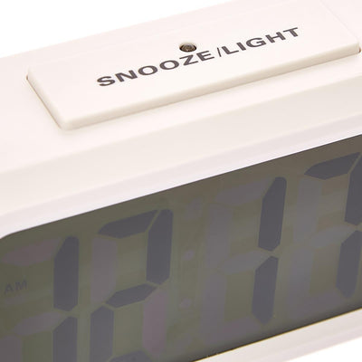 Checkmate Chapman Multifunction Digital Alarm Clock White 14cm VGW-1065White Backlight1