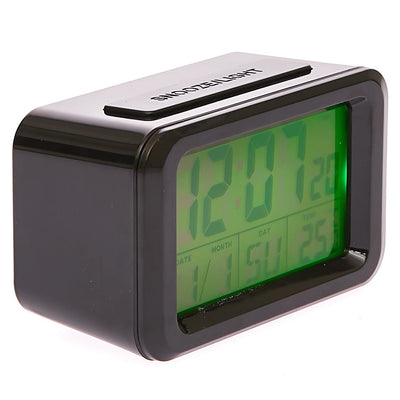 Checkmate Hugo Multifunction Digital Alarm Clock Black 12cm VGW 8773B 1