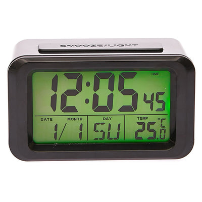 Checkmate Hugo Multifunction Digital Alarm Clock Black 12cm VGW 8773B Top