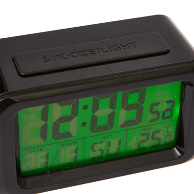 Checkmate Hugo Multifunction Digital Alarm Clock Black 12cm VGW 8773B Front