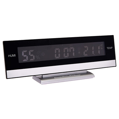 Checkmate LED Multifunction table clock Desk Clock 24cm VGW 627 Backlight