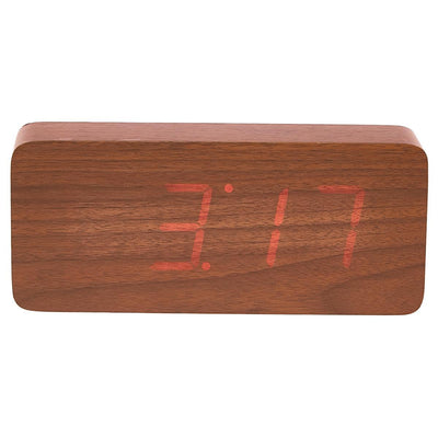 Checkmate LED Big Wood Cuboid Desk Clock Red 21cm VGY 6602R 14