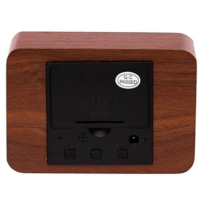 Checkmate LED Wood Cuboid Desk Clock Red 10cm VGY 818R 15