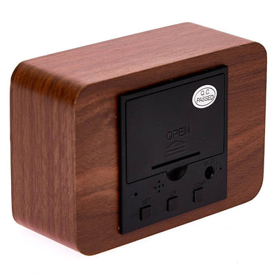 Checkmate LED Wood Cuboid Desk Clock Red 10cm VGY 818R 16