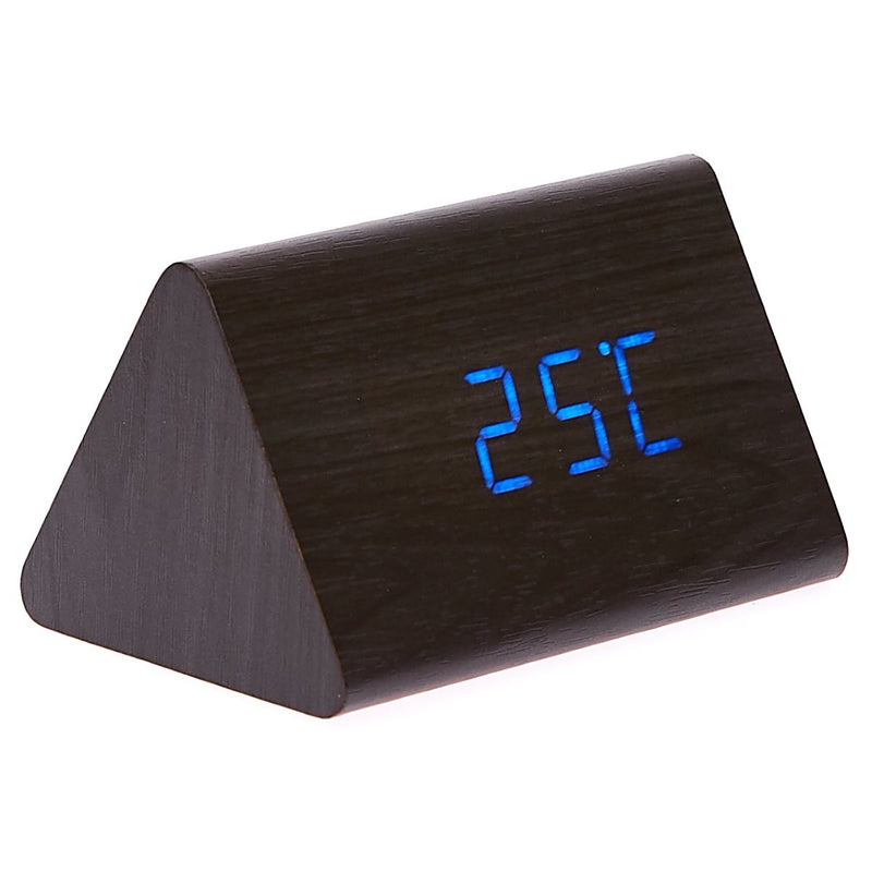 Checkmate LED Wood Tri Bar Desk Clock Blue 12cm VGY 828B 11