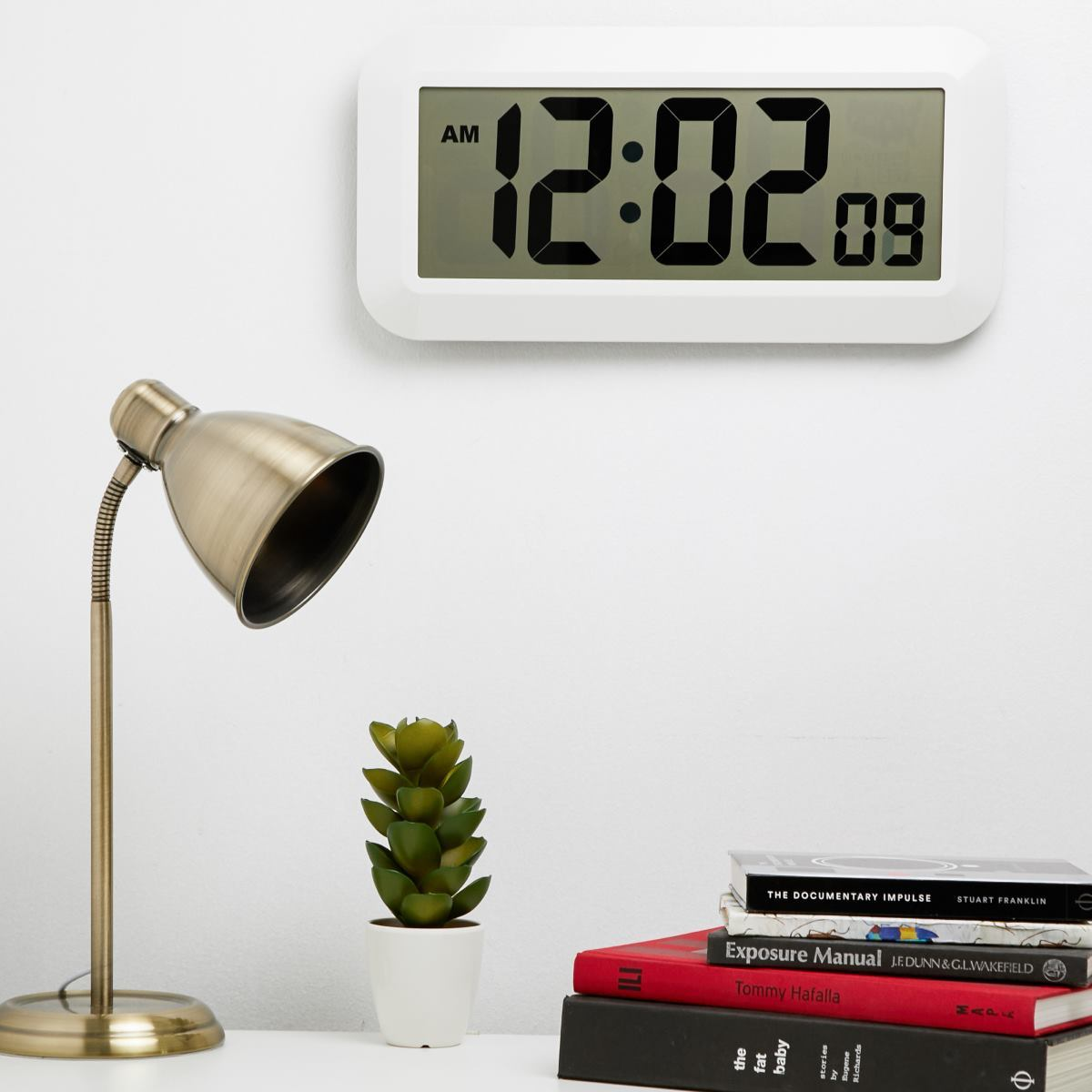 Checkmate Specter Jumbo LCD Wall & Desk Clock, 42cm