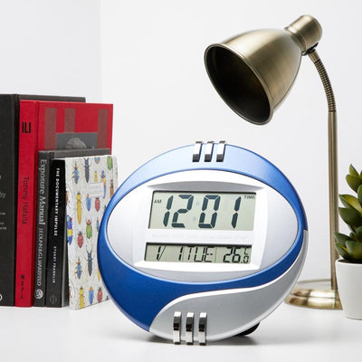 Checkmate Trident Multifunction Round Digital Wall Clock 26cm VGW 604Blue Lifestyle1