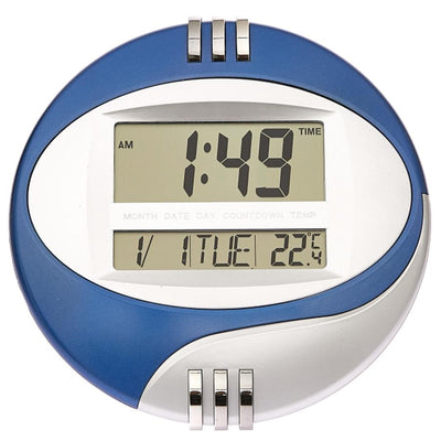 Checkmate Trident Multifunction Round Digital Wall Clock 26cm VGW 604Blue Lifestyle2