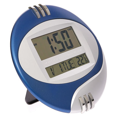 Checkmate Trident Multifunction Round Digital Wall Clock 26cm VGW 604Blue Angle1