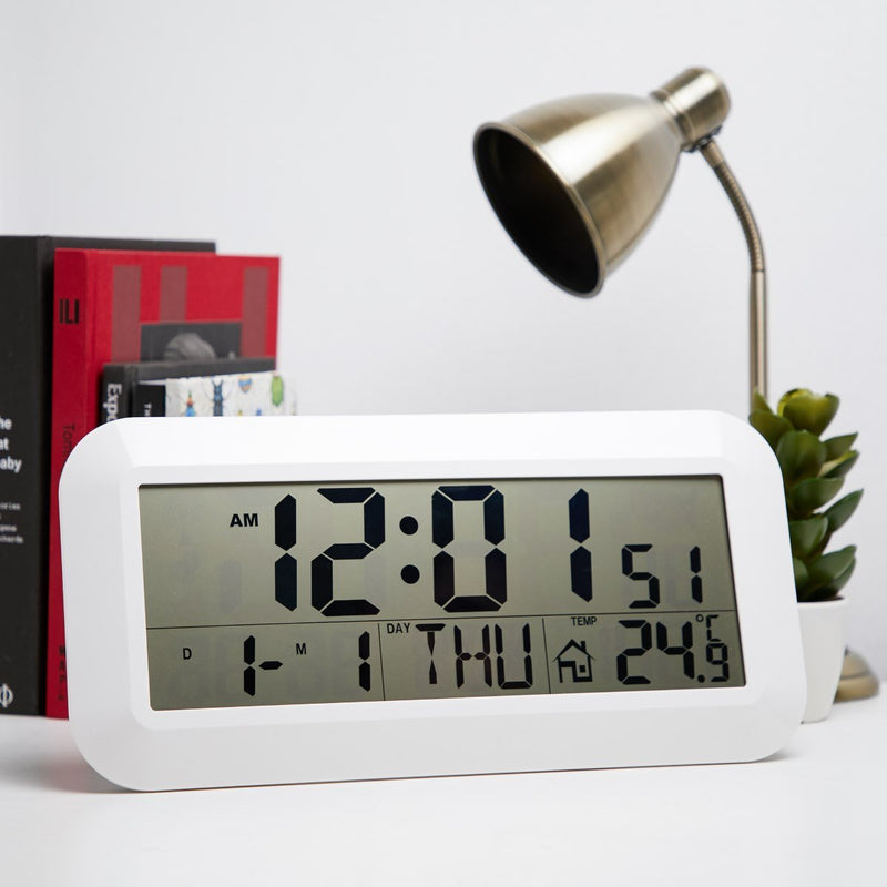 Checkmate Vision Jumbo LCD Calendar Temp Wall and Desk Clock 42cm Angle
