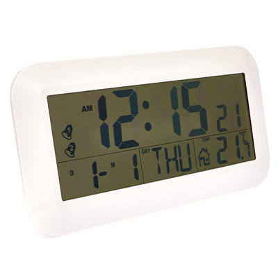 Checkmate Vision Jumbo LCD Calendar Temp Wall and Desk Clock 42cm Lifestyle2