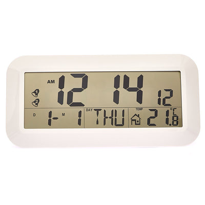 Checkmate Vision Jumbo LCD Calendar Temp Wall and Desk Clock 42cm Front