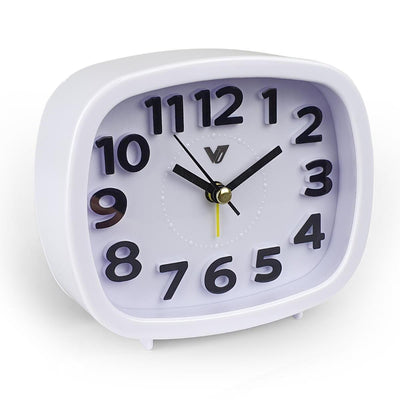 Victory Abigail 3D Number Alarm Clock White 12cm TTD 6199 WHI 5