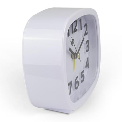 Victory Abigail 3D Number Alarm Clock White 12cm TTD 6199 WHI 1