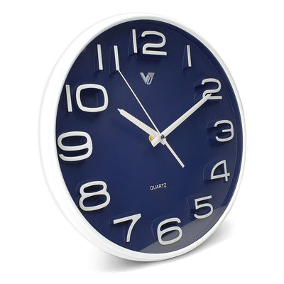 Victory Adelyn 3D Number Wall Clock Blue 33cm CWH 6711 BLU 1