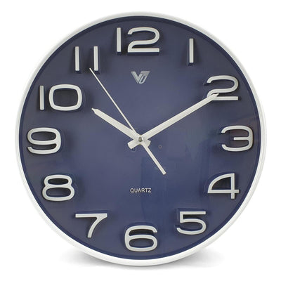 Victory Adelyn 3D Number Wall Clock Blue 33cm CWH 6711 BLU 6