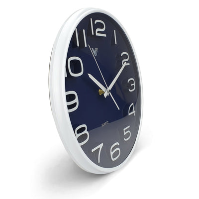 Victory Adelyn 3D Number Wall Clock Blue 33cm CWH 6711 BLU 2