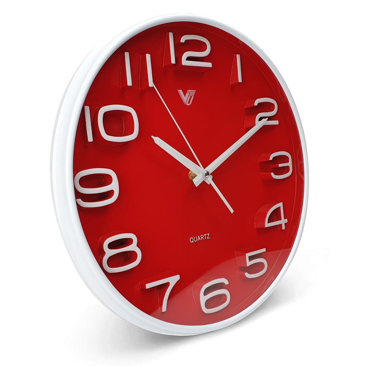 Victory Adelyn 3D Number Wall Clock Red 33cm CWH 6711 RED 1