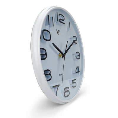 Victory Adelyn 3D Number Wall Clock White 33cm CWH 6711 WHI 2