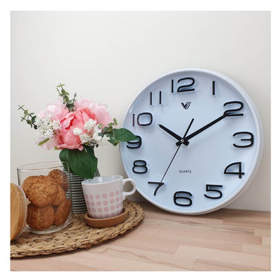 Victory Adelyn 3D Number Wall Clock White 33cm CWH 6711 WHI 5