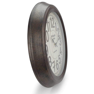 Victory Antique Paris Vintage Metal Wall Clock Distressed Brown 47cm CHH 551 4