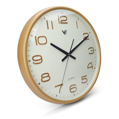 Victory Bayla Domed Face Wall Clock Brown 40cm CWH 6289 1