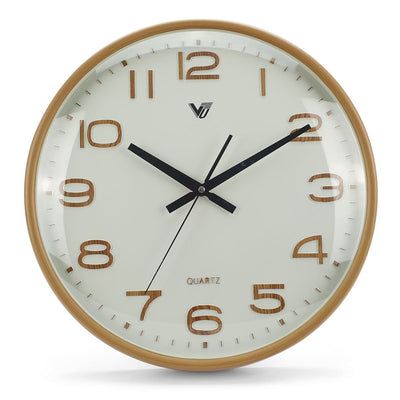 Victory Bayla Domed Face Wall Clock Brown 40cm CWH 6289 6