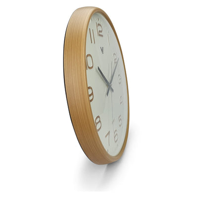 Victory Bayla Domed Face Wall Clock Brown 40cm CWH 6289 2