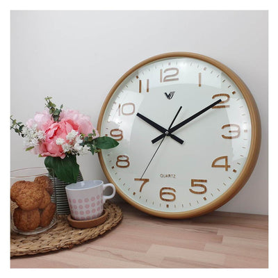 Victory Bayla Domed Face Wall Clock Brown 40cm CWH 6289 5