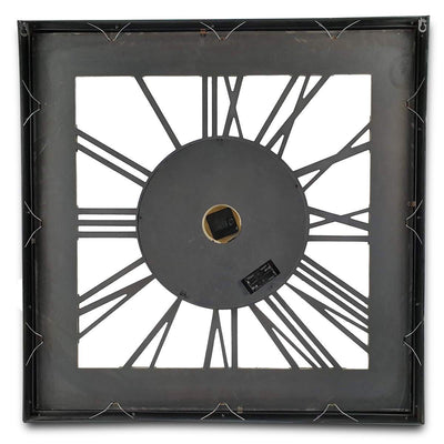 Victory Boreas Metal Extra Large Square Moving Gears Wall Clock Silver 80cm CCM 7024 6
