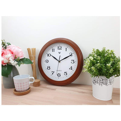 Victory Braxton Wooden Wall Clock Medium Brown 31cm CFR 300 2