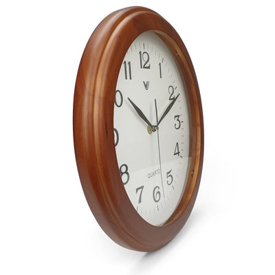 Victory Braxton Wooden Wall Clock Medium Brown 31cm CFR 300 4