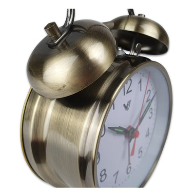 Victory Brenda Mechanical Twin Bell Alarm Clock Dark Brushed Gold 17cm Q 817 GOL 5
