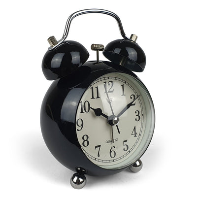 Victory Briar Bubble Twin Bell Alarm Clock Black 13cm Q 858B 2