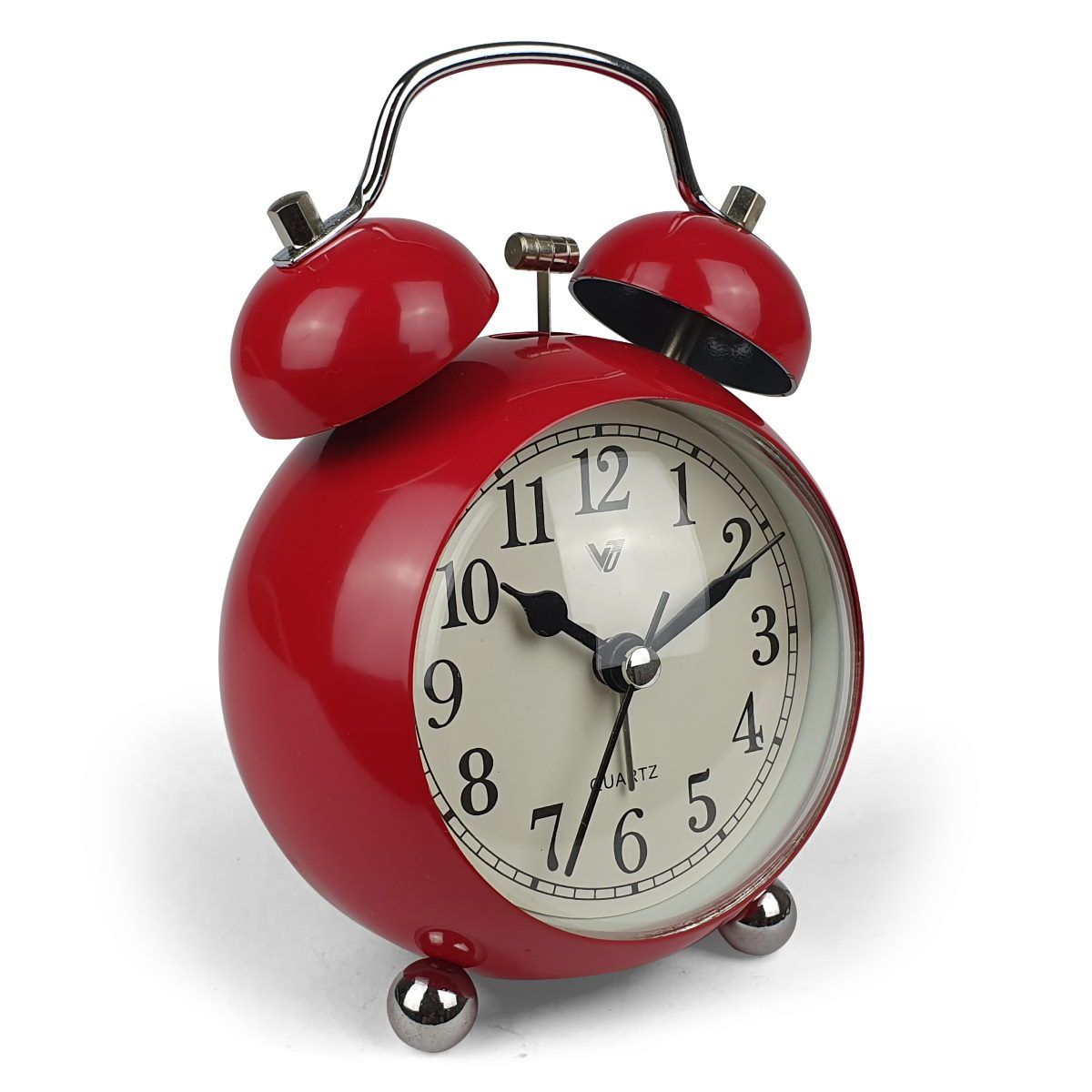 Victory Briar Bubble Twin Bell Alarm Clock Red 13cm Q 858R 2