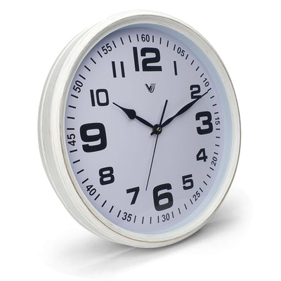 Victory Cassian Wall Clock White 40cm CJH 6203 WHI 1