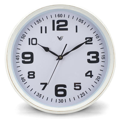 Victory Cassian Wall Clock White 40cm CJH 6203 WHI 6