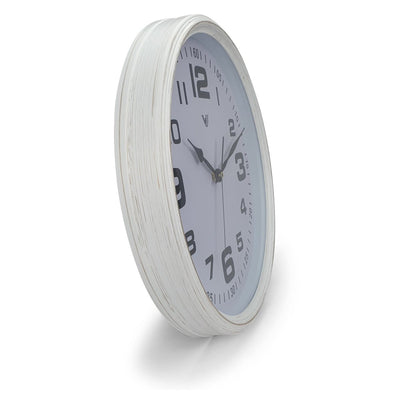 Victory Cassian Wall Clock White 40cm CJH 6203 WHI 2
