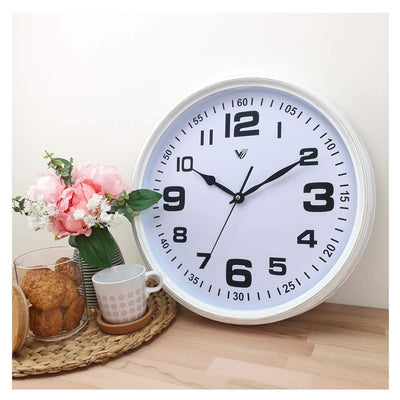 Victory Cassian Wall Clock White 40cm CJH 6203 WHI 5
