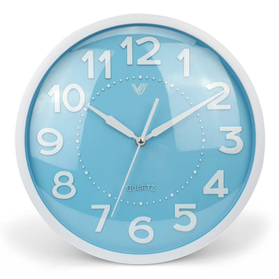Victory Cayden 3D Numbers Domed Wall Clock Blue 31cm CWH 6249 BLU 3